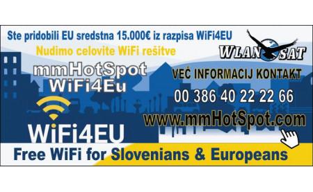 Celovita rešitev WiFi4EU Občin
