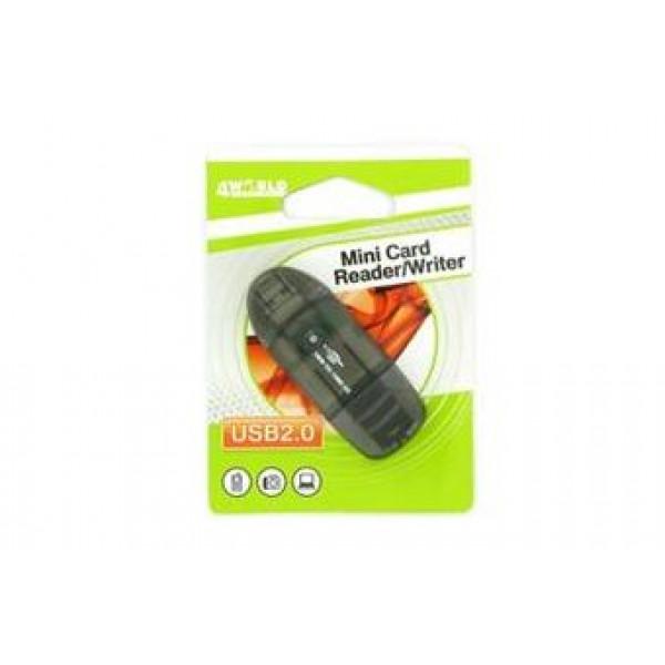 4World adapter SDHC MMC T-Flash USB
