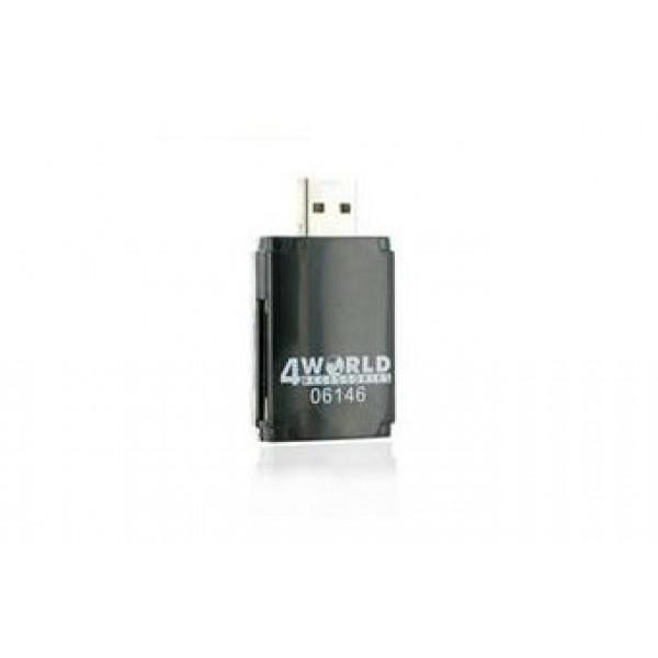 4World čitalec MS M2 SD microSD MMC