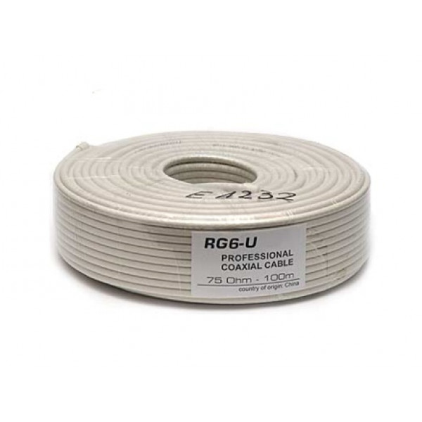 Kabel Koax RG6U Fe/Cu - 100m