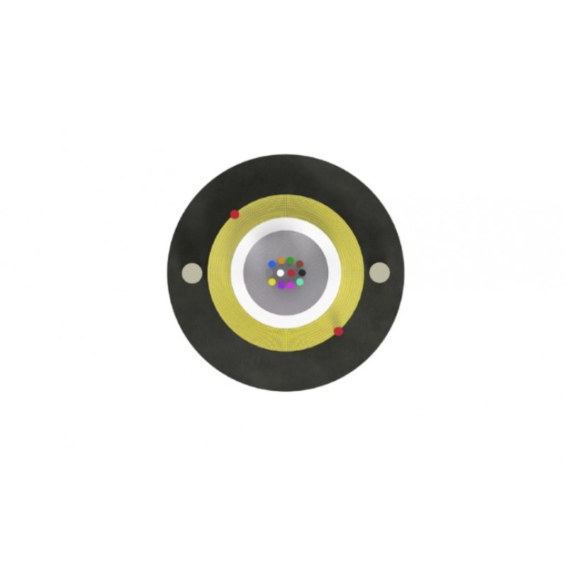 Optični kabel Aramid Z-XOTK 4x9/125 1km