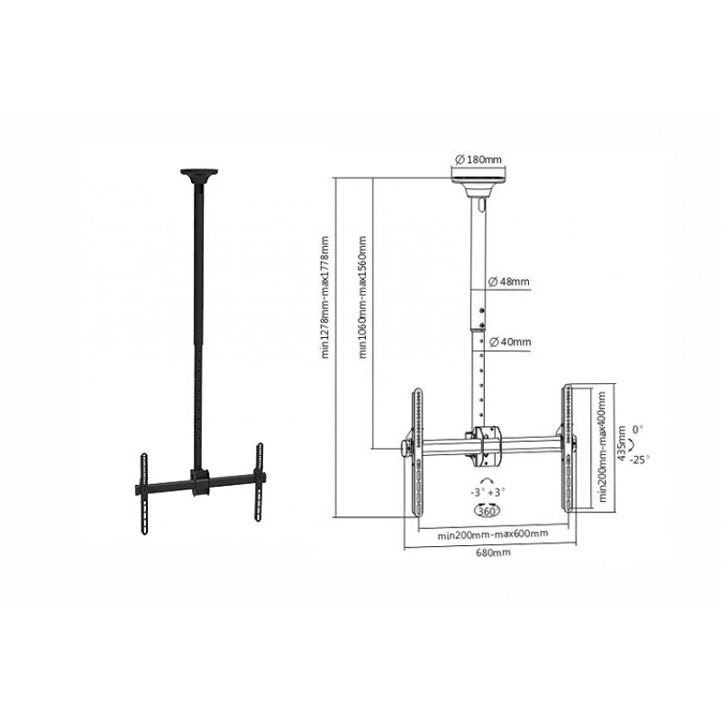 "Signal LCD nosilec PLB-CE946 37-70"""