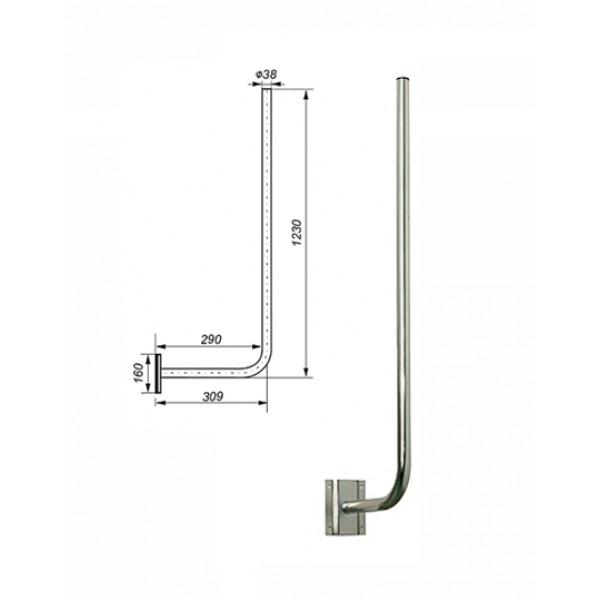 Zidni antenski nosilec L30/120