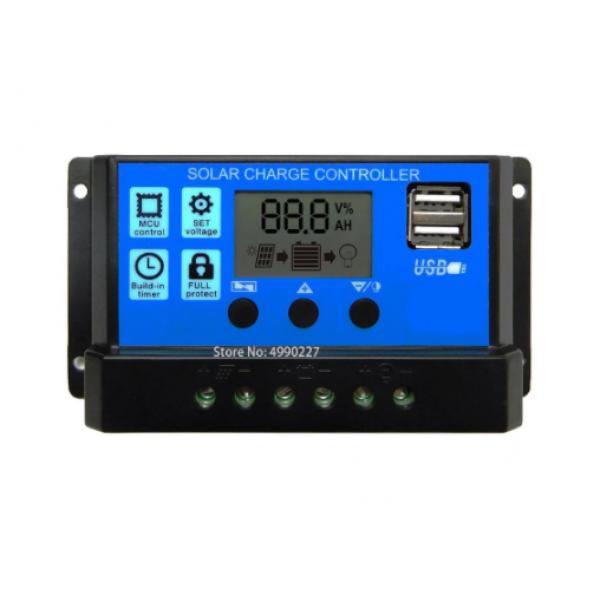 Regulator LCD PMW 30A 12-24V USB