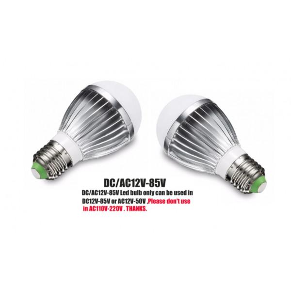 UNI LED žarnica E27 6W AC/DC12V-85V