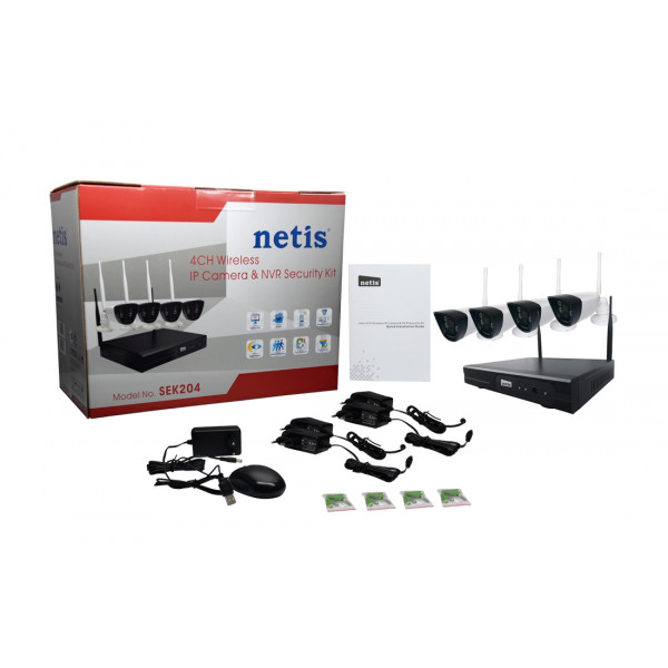 Netis KIT WiFi SEV204 4x IPCAM SEC111