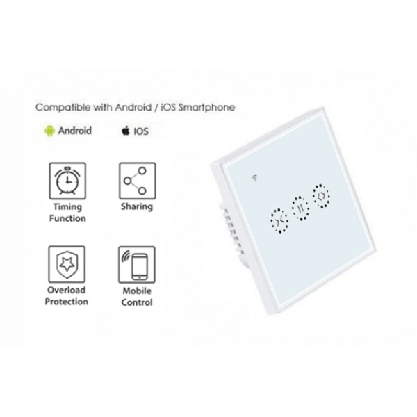 WiFi Smart Touch pogonsko stikalo EU