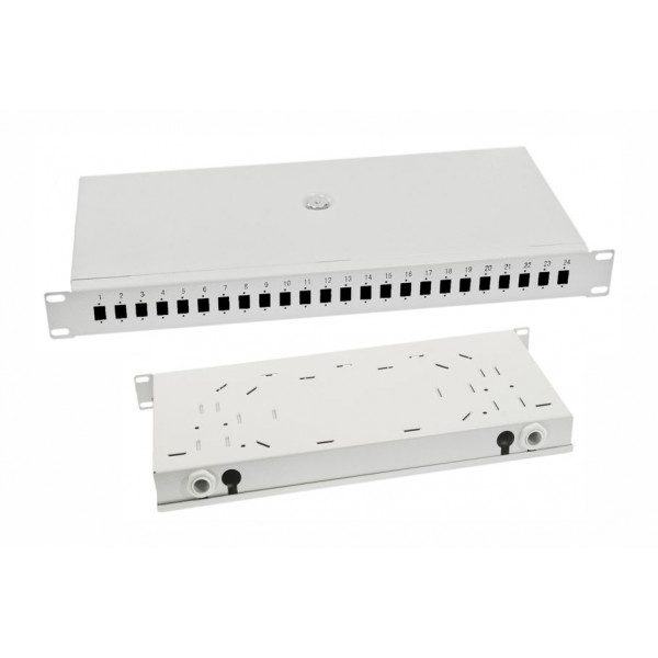 Optični fix patch panel 24x SC-/LC-D