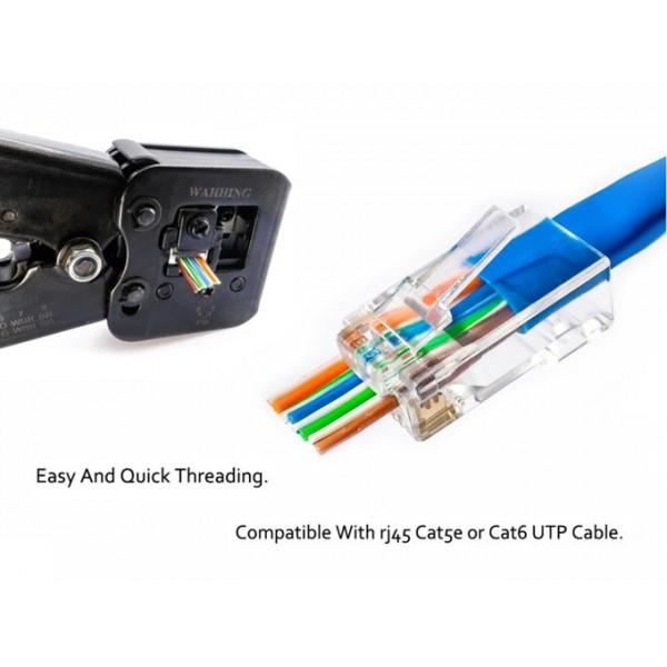 Konektor skozni UTP Cat.5E RJ45 10x 8PIN