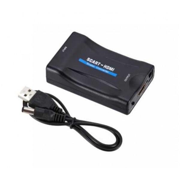 Adapter SCART na HDMI z USB DC5V