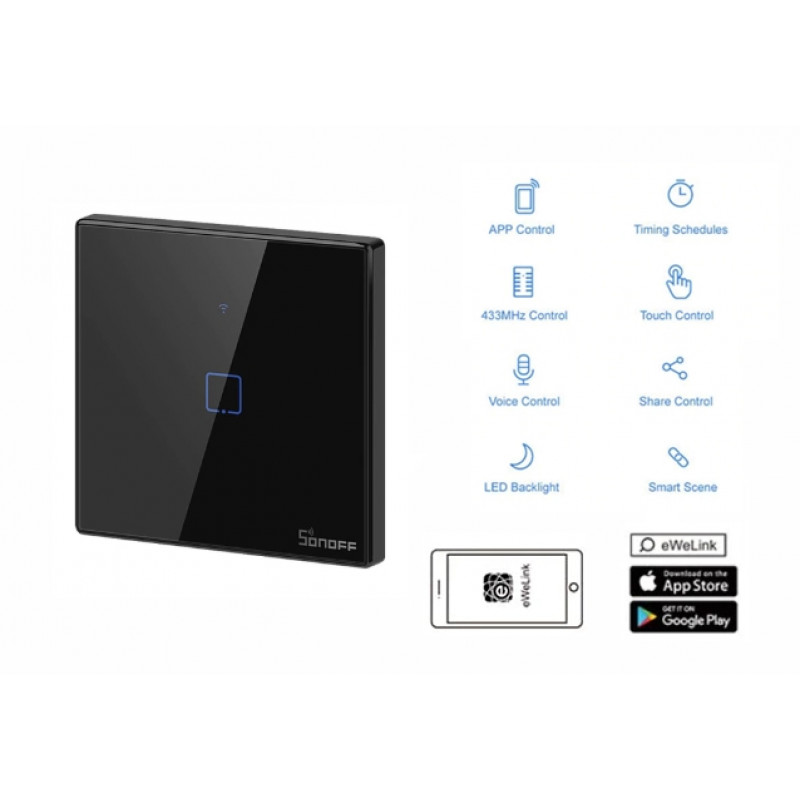 WiFi SonOff Touch stikalo T3EU-1G