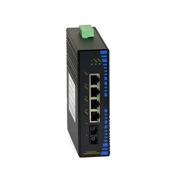 UPower Industri PoE Switch 112P 4xPoE 1xSC 100M 20km
