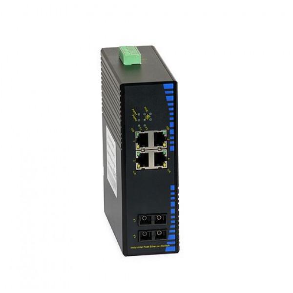 UPower Industri PoE Switch 124P 4xPoE 2xSC 100M 20km