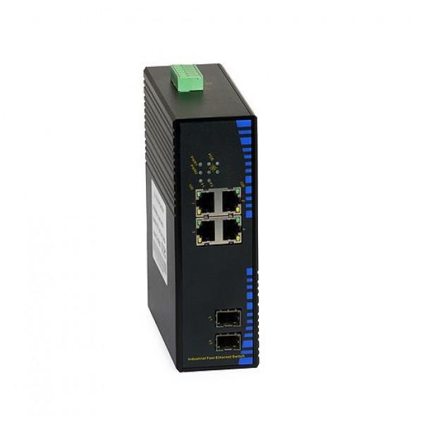 UPower Industri PoE Switch 124SFP 4xPoE 2xSFP 100M