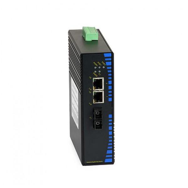 UPower Industri PoE Switch 312P 2xGE PoE 1xSC 1000M