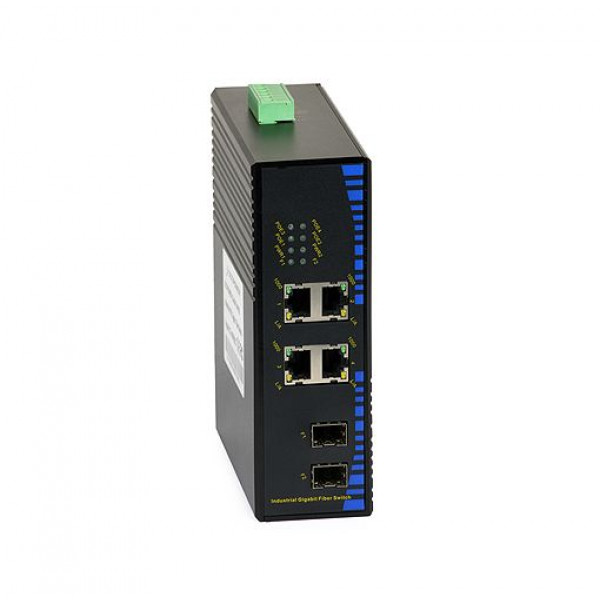 UPower Industri PoE Switch 324SFP 4xGE PoE 2xSFP 1000M