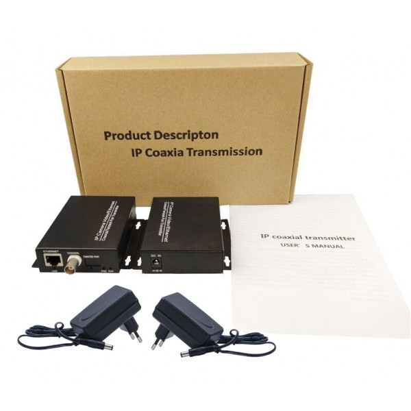 Kit IP Ether pretvornika koax BNC CCTV