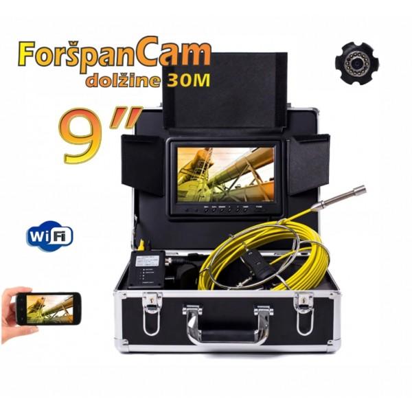 "Najem WiFi Video foršpan kamera 9"" 30m HD"